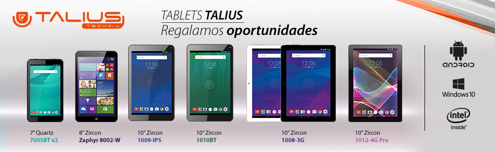 Tablets de Talius - Oportunidades