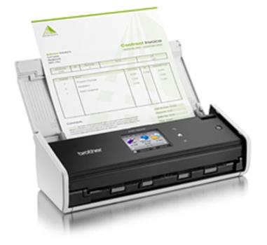 Brother ADS-1600W - Escáner de documentos - 18 ppm - duplex - 216 x 863 mm - 600 ppp - ADF 20 hojas - USB 2.0 - Wifi - Ranura DNI