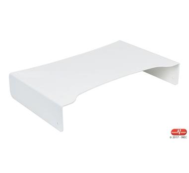 Soporte de aluminio para monitor lacado en blanco