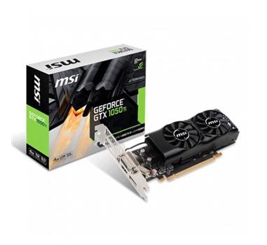MSI Nvidia GTX 1050 Ti 4GT- DDR5 4GB - Low Profile (LP) - 1 x DL-DVI-D, 1 x HDMI, 1 x Display Port 1.4
