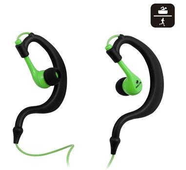 NGS TRITON GREEN - Auriculares stereo - tipo boton - Tecnologia IPX8 - Ergonomicos y ligeros - Resistentes al agua - Ideal deporte - Verde y negro