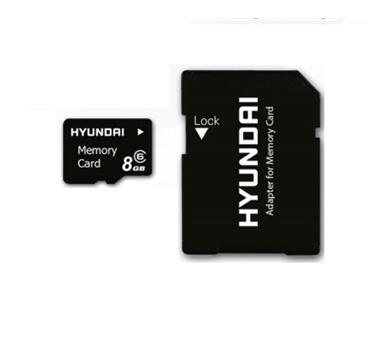 Hyundai - MicroSDHC 8 GB con adaptador a SD - class 6