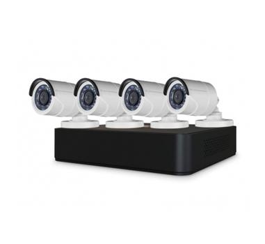 Conceptronic - Kit Videovigilancia - 8 canales - 4 camaras HD 720p - Interior y exterior - Videograbador - Infrarojos - Sin disco duro - Admite discos hasta 6TB