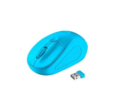 Trust - Raton Primo Neon Blue - Inalambrico - 1600DPI - Azul - Nano USB