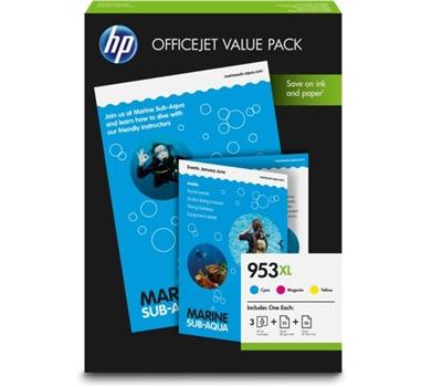 HP Oficejet Pro 8710/8720/8730/8740 Cartucho Value Pack Cian/Magenta/Amarillo nº953XL