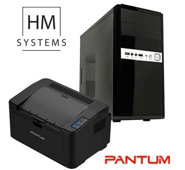 Promoción Ordenador HM System Siroco MT - G4400 - 4GB - 1TB - RW con Impresora Pantum P2500W