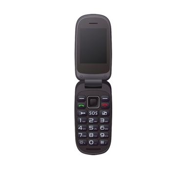 "Teléfono SENIOR Libre Qubo Xoel 2.4"" - Teclas grandes - Cámara - Linterna - FM - BT - Bat. 750mAh - Amp. 64 GB microSD - Dual SIM - Botón SOS - Azul"