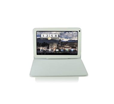 """3go Funda tablet 10"""" - Blanca - Piel - Con soporte"""