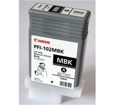 CANON CARTUCHO NEGRO MATE PFI102MBK 130ML LP/17/24 IPF/500/600/700/710/610/605/720/755