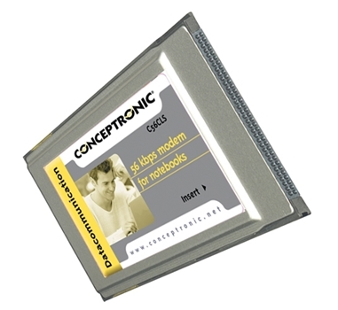 Conceptronic - Fax / módem - módulo plug-in - PC Card - 56 Kbps - V.90, V.92