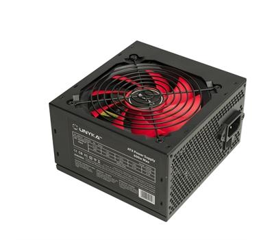 Fuente Alimentación Unykach Gaming ATX - 600W - PFC Pasivo - 4xSATA - 1xPCIex (6+2 Pines) - ATX 12V 4+4 - 3xMOLEX - Ventilador de 12 cm
