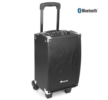 NGS Wild Party - Altavoz 40W - Trolley portátil con ruedas - Bluetooth v2.1 - Micro - USB - Auxiliar - Equalizador 5 bandas - Volumen