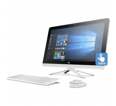 "HP 24-G013NS - All in one - AMD A8-7410 QC - 4GB - 1TB - RAD R5 - 23.8"" HD TACTIL - DVDRW - TEC+RATON - W10 - Blanco"
