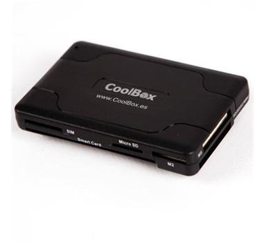 Coolbox - Lector de tarjetas externo USB - lector de DNI - CRE-065 - Admite MicroSD sin adaptador