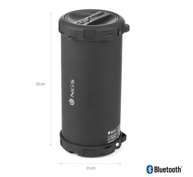 NGS - Altavoz 1.0 Roller Flow portatil 20w SD/USB/AUX/FM