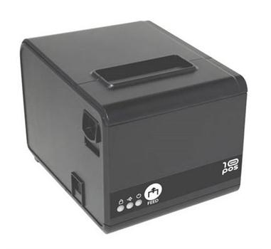10POS - Impresora Térmica  (250 mm/s) USB+RS232+Ethernet. Fuente y Cable. Color negro.