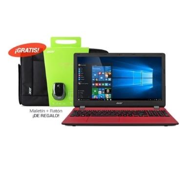 Pack portátil Acer ES1-520-38YV - E1-2500 8GB 500GB WIN10 + Ratón + Maletín
