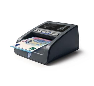 Safescan 155-S, Detector de billetes falsos automático, detección 7 puntos para 12 divisas, BCE testado, puerto USB + SD para actualizaciones, Negro