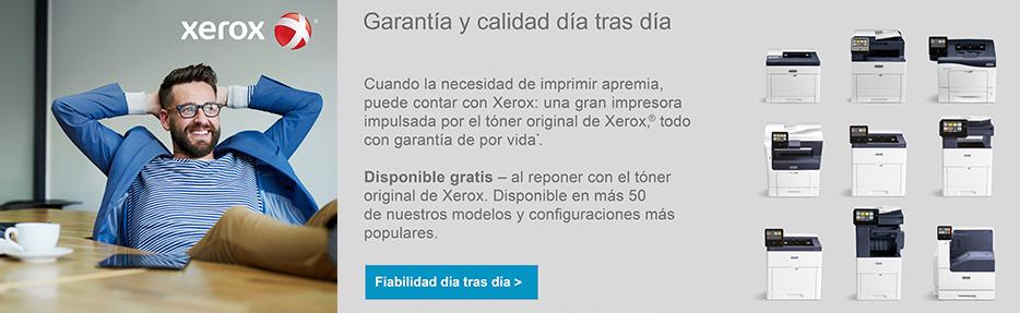 Garantía de por vida Xerox