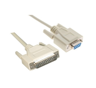 Nanocable - Cable Null Modem DB9 Hembra a DB25 Macho 1.8m