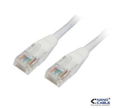 Nanocable - Cable de red latiguillo UTP CAT.5e de 0,5m - color Blanco