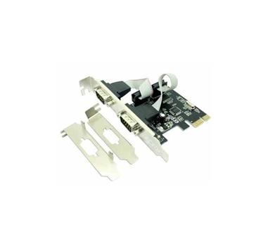 Approx - Tarjeta PCI-Express 2xPuerto Serie incluye adaptador de bajo perfil