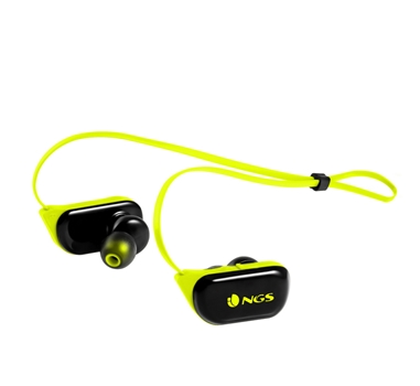 """NGS ARTICA RANGER YELLOW - Auriculares bluetooth - Impermeable IPX4 - Sujecion """"Perfect Fit"""" - Microfono - Bat 7 horas - Amarillo"""