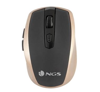 NGS - Raton Flea Pro Gold - Inalambrico - 1600dpi - 6 botones - Oro