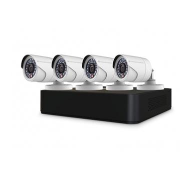 Conceptronic - Kit Videovigilancia C4CHCCTVKITD V2 - 4 cámaras - HD720p - interior y exterior - Vision nocturna - Videograbador - Sin disco duro - Admite discos hasta 6TB
