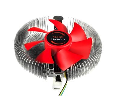 Tacens - Disipador Mars Gaming MCPU1 - Ventilador 9cm - 42,5CFM - Socket LGA775/1150/1151/1155/1156 y AMD FM1/AM2+/AM3/AM3+/FM2/FM2+ - válido para perfil bajo