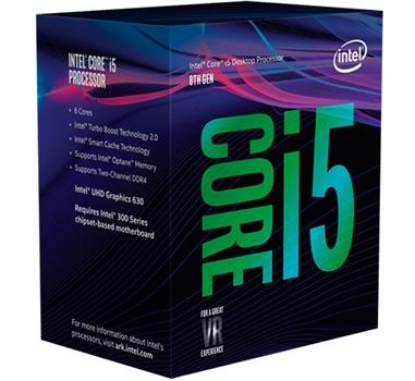 Procesador 1151 Intel Core i5 8400 - 2.8 GHz - 6 núcleos - 6 hilos - 9 MB caché - UHD Graphics 630 - Caja