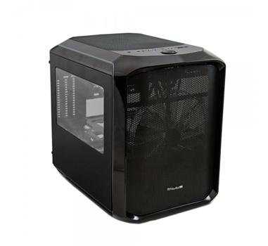 Talius - Caja Micro-ATX Hydra Formato Cubo - NO GRABADORA - No incluye FA - 2xUSB 3.0 - Lector de tarjetas - USB 2.0 - Audio - Ventana Lateral - Negro