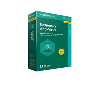 Kaspersky Antivirus 2018 - Paquete de suscripción ( 1 año ) - 3 PC - Win - Renovación