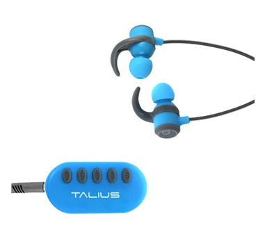 Talius - Auricular Deportivo EA-1006BT - Bluetooth - Adaptador FM/MicroSD - Bluetooth - Manos libres - Hasta 6h de autonomia - Botones de control - Azul