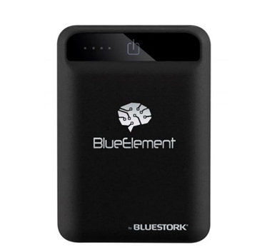 Bluestork - Powerbank 10000mAh - 2xUSB - 2.1A - Tamaño compacto - Carga rapida Bluelement