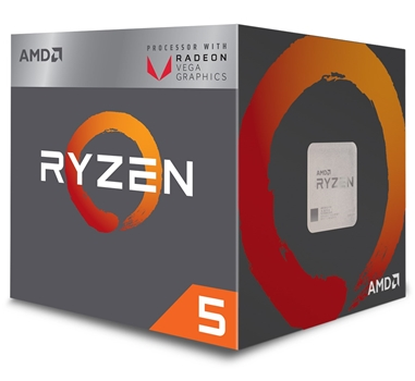 AMD Ryzen 5 2400G / 3.6 GHz procesador - 3.6 GHz - Radeon RX Vega 11 graphics - 4 núcleos - 8 hilos - 2 MB caché - Socket AM4 - Box