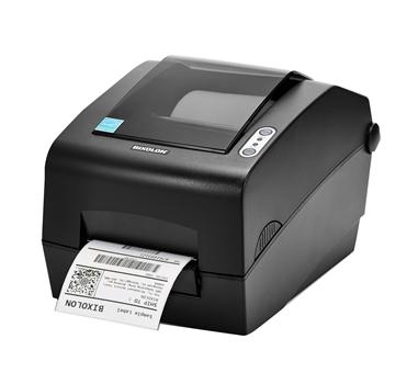 Impresora de etiquetas Bixolon SLP-T400 - Térmica directa y transferencia térmica (Ribbon) - Ribbon hasta 300m - Serie+Paralelo+USB - Negro