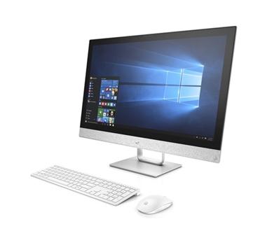 """HP 27-R070NS - All in one - Core i7-7700T - 27"""" - 8 GB - 1 TB - Grabadora DVD - Windows 10 - color blanco / plata - incluye teclado y ratón wireless"""
