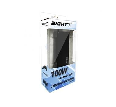Eightt - Cargador de portátil universal AUTOMATICO 100W 13 conexiones