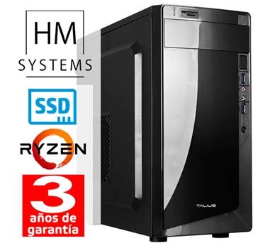 HM Ryzen Force C1 - Minitorre MT - AMD Ryzen 3 2200G - 8 GB - 240 GB SSD - USB 3.0 - Grabadora - 3 años - 30 días DOA