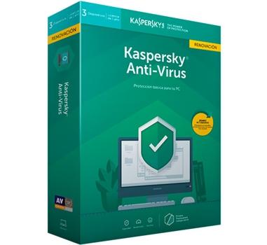 Kaspersky Antivirus 2019 - Paquete de renovación ( 1 año ) - 3 PC - Win