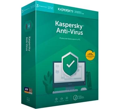 Kaspersky Antivirus 2019 - Paquete de suscripción ( 1 año ) - 3 PC - Win