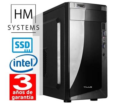 HM Abrego C4+ - Minitorre MT - 8ª Gen - Intel Core i3 8100 - 8 GB DDR4 - 240 GB SSD - Grabadora - Lector de tarjetas - USB 3.0 - 3 años garantía - 30 días DOA