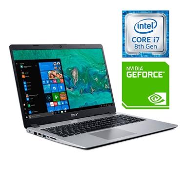 Acer - Portatil Aspire 5 - A515-52G-73ML - i7-8565U - 8Gb - 128GB SSD + 1TB - GeForce MX130 2GB - HDMI - WIFI - BT - USB-C - Win10 - Plata