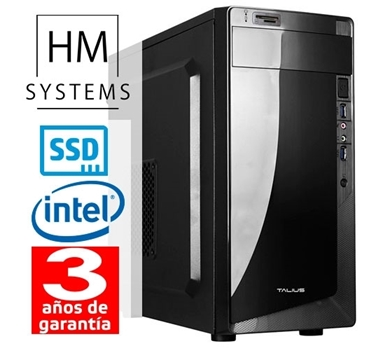 HM Abrego C5+ - Minitorre MT - 9ª Gen - Intel Core i3 9100F - 8 GB DDR4 - 240 GB SSD - GT 710 1 GB dedicada - Grabadora - Lector de tarjetas - USB 3.0 - 3 años garantía - 30 días DOA