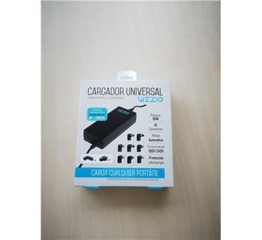 Vizzio - Cargador VIZZIO automático universal 90W - 100/240V entrada - 10-20V salida - 10 conectores tipo codo - Cable de alimentación incluido