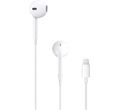 Apple - Auricular Apple EarPods Cableado Intrauricular Estéreo - Blanco - Oído Externo - Conector Lightning - Micro