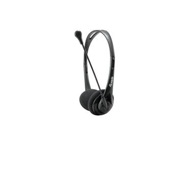Equip - Headset Equip Life Conexion Jack 3.5mm - Microfono flexible - Control de volumen - Incluye adaptador 1 a 2 Jacks 3.5mm - Negro