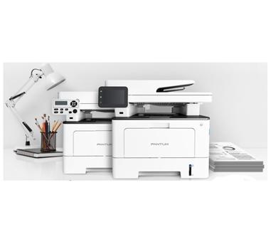 Pantum - Impresora Multifunción BM5100ADW Láser Monocromo A4 - 3 en 1 (Impresora, Escáner, Copiadora) - 40ppm - 1200 x 1200 - 512MB - 250 Hojas - Duplex - Bandeja Manual 60 hojas - Red, Wifi - USB 2.0