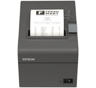 Impresora de tickets térmica EPSON TM-T20II, Negro, Con corte, USB, RS232, rollo de 5,8/8 cm,  hasta 200 mm/s.